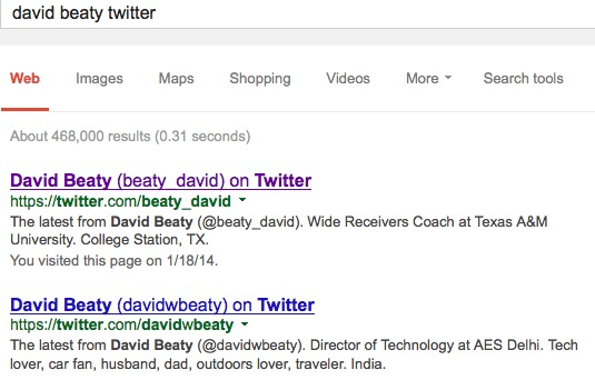 David Beaty vs. David Beaty on Twitter
