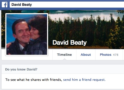 This NOT the real David Beaty!
